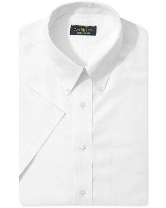 Club Room Wrinkle Resistant Solid Short-Sleeve Dress Shirt-CLUB ROOM-Fashionbarn shop
