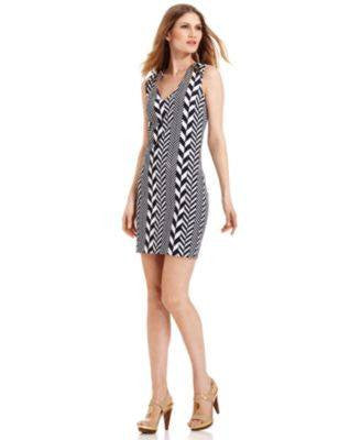 MICHAEL KORS CREA LOOSE STRIPE SLEEVE DRESS-MICHAEL/MICHAEL KORS-Fashionbarn shop
