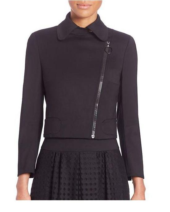 Akris Punto Cotton Techno Asymmetrical Zip Jacket