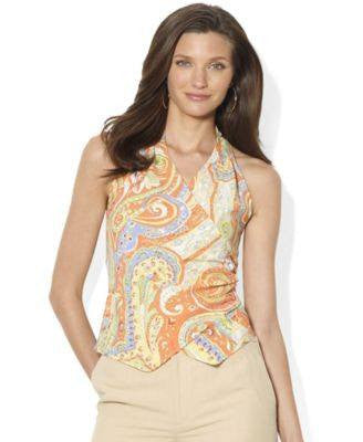 RALPH LAUREN SHANTI MULTI TOP-LAUREN RALPH LAUREN-Fashionbarn shop