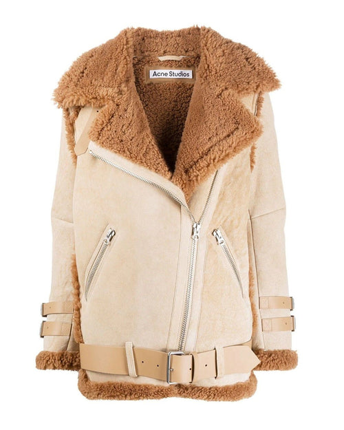 Acne Studios Belted Shearling Jacket