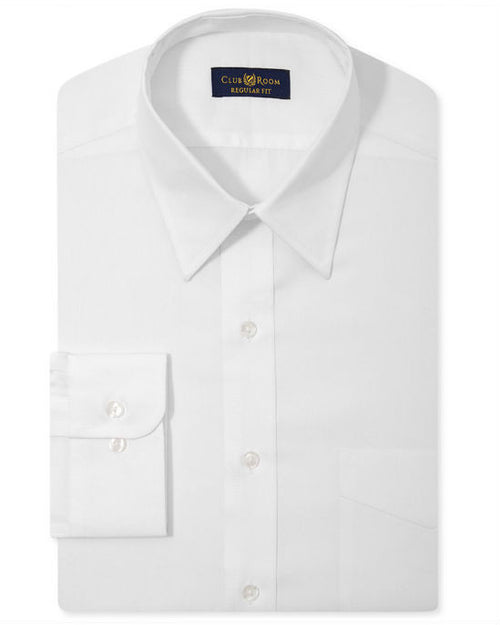 Club Room Estate Wrinkle Resistant White Dress Shirt-CLUB ROOM-Fashionbarn shop
