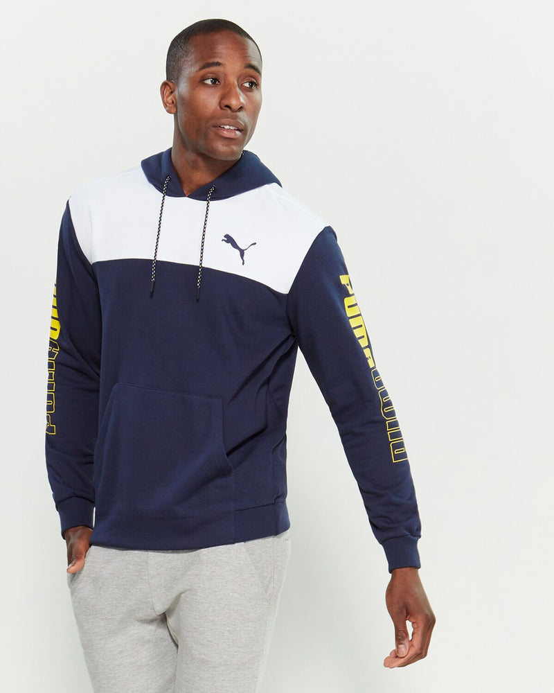 Puma Double Up Logo Color Block Hoodie