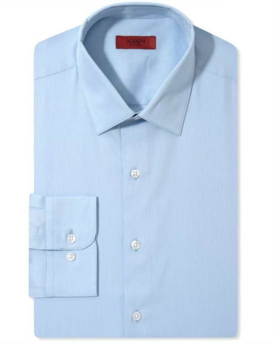 Alfani RED Men's Fitted Textured Solid Dress Shirt-ALFANI-Fashionbarn shop