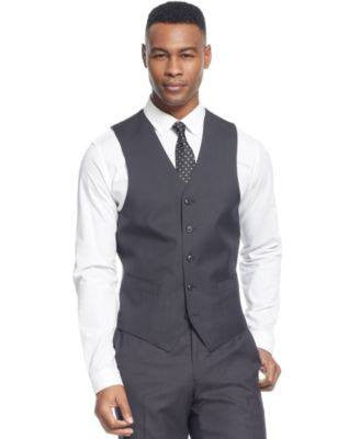 SEAN JOHN BLACK DIAMOND TEXTURE VEST BLACK 44S-SEAN JOHN-Fashionbarn shop