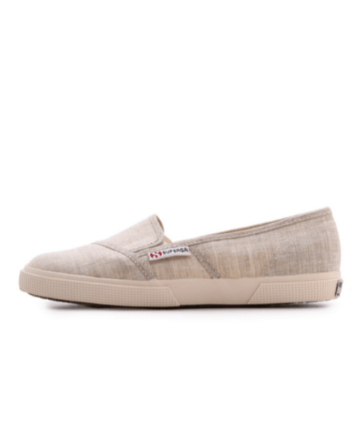 SUPERGA Beige Cotu Slip On Sneakers-SUPERGA-Fashionbarn shop