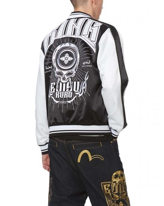 Evisu Souvenir Jacket with Studded Sleeves