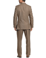 Kenneth Cole Reaction Tan Solid Slim-Fit 2 Piece Suit-KENNETH COLE-Fashionbarn shop