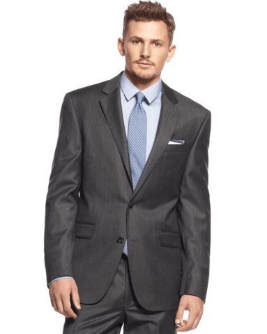 1a75861674d4f9 Kenneth Cole New York Charcoal Texture Slim-Fit Suit