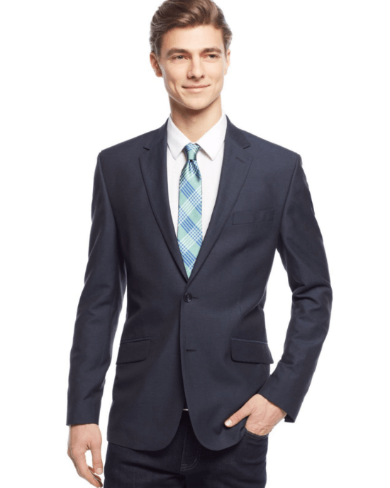 Kenneth Cole New York Slim-Fit Navy Neat Sport Coat-KENNETH COLE-Fashionbarn shop