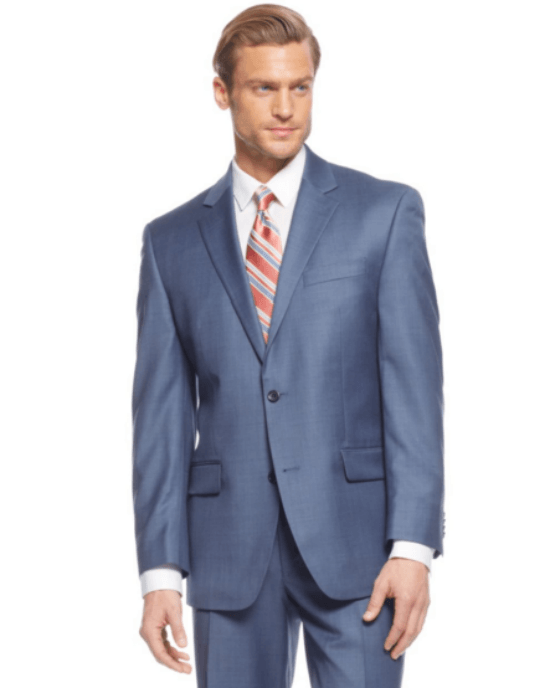 Michael Michael Kors Suit Navy Sharkskin Solid-MICHAEL MICHAEL KORS-Fashionbarn shop