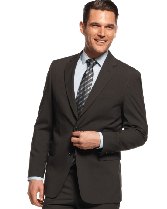 Jones New York Suit Black Tonal Stripe-JONES NEW YORK-Fashionbarn shop