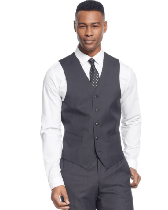 Sean John Black Diamond Texture Vest-SEAN JOHN-Fashionbarn shop