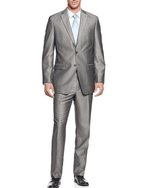 Bar III Light Grey Shiny Hb Light Pastel 2 Piece Suit-BAR III-Fashionbarn shop