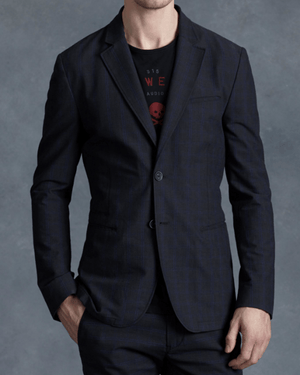 John Varvatos Star USA Blue Cotton Three Button Jacket-JOHN VARVATOS STAR USA-Fashionbarn shop
