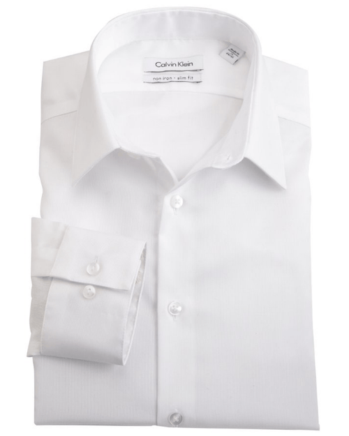 Calvin Klein Men's Non-Iron Slim-Fit Striped Button-Front Shirt-CALVIN KLEIN-Fashionbarn shop