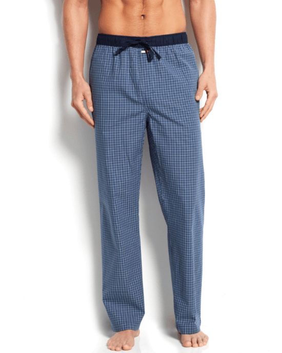 Tommy Hilfiger Men's Blueberry Check Woven Pajama Bottoms-TOMMY HILFIGER-Fashionbarn shop