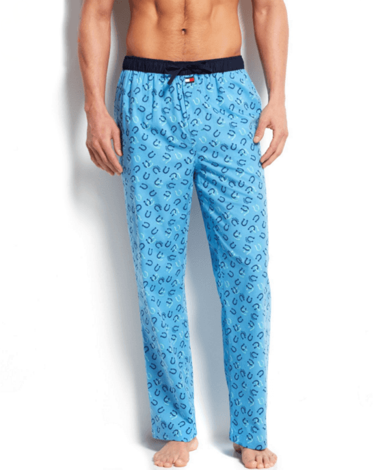 Tommy Hilfiger Men's Horseshoe Print Woven Pajama Bottoms-TOMMY HILFIGER-Fashionbarn shop