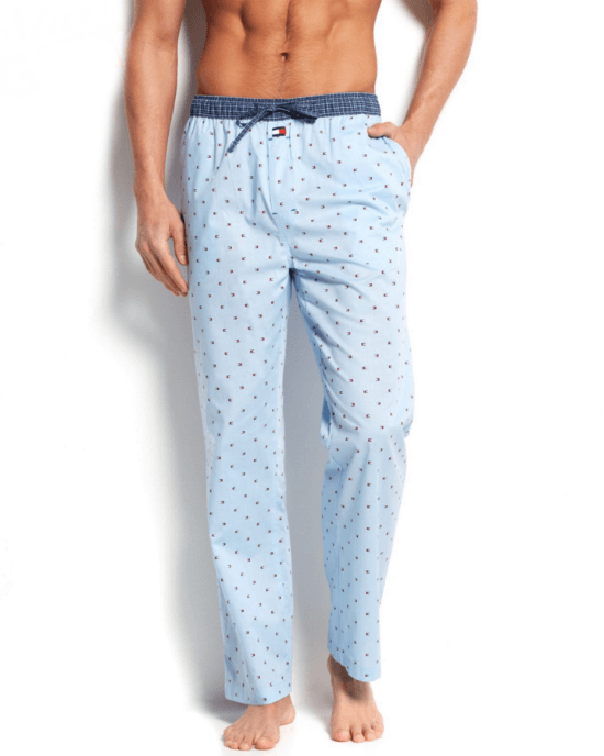 Tommy Hilfiger Men's Ice Print Woven Pajama Bottoms-TOMMY HILFIGER-Fashionbarn shop