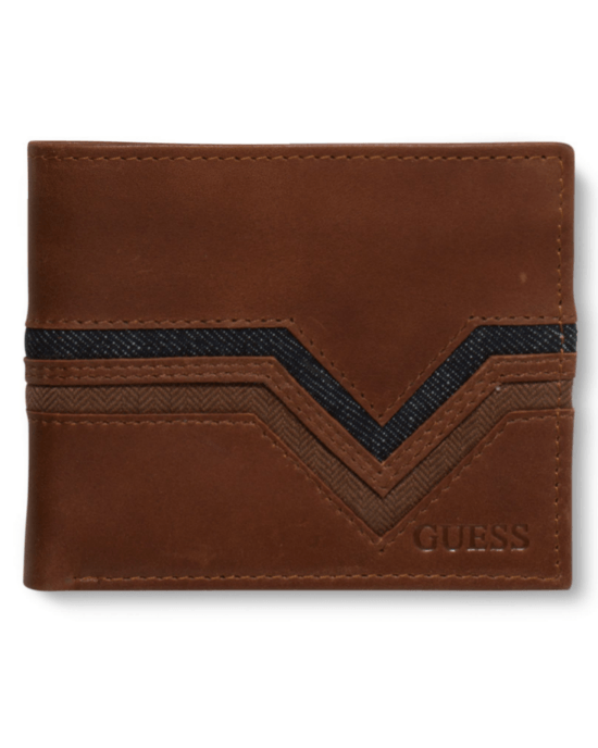 GUESS Ian Denim Double Billfold Wallet-GUESS-Fashionbarn shop