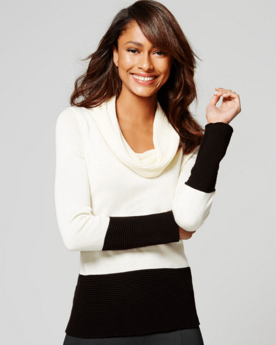 Calvin Klein Colorblock Cowl-Neck Sweater-CALVIN KLEIN-Fashionbarn shop