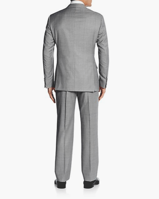 Armani Collezioni Regular-Fit Windowpane Grid Wool Suit-ARMANI COLLEZIONI-Fashionbarn shop