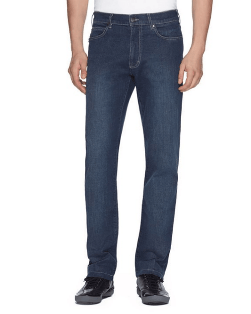Zegna Sport Men's Fashion Blue Wash Lightweight Denim Jeans - Fashionbarn shop