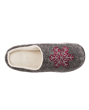 Isotoner Signature Holiday Snow flake Sweater Knit Critter Clog Slippers - Fashionbarn shop - 3