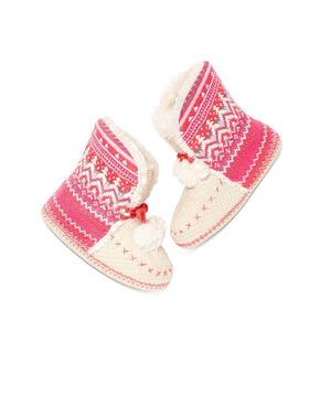 Jenni Fairisle Slipper Booties - Fashionbarn shop