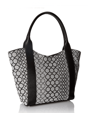 Nine West Track-Tion Action Tote Black White - Fashionbarn shop - 2