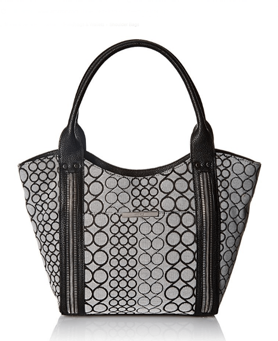 Nine West Track-Tion Action Tote Black White - Fashionbarn shop - 1