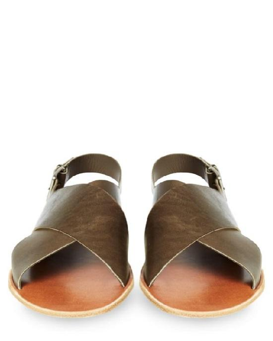 ARMANDO CABRAL Essex Crossover Leather Sandals
