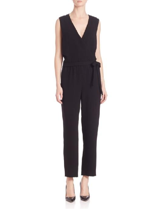 THEORY Alvmie Admiral Crepe Jumpsuit