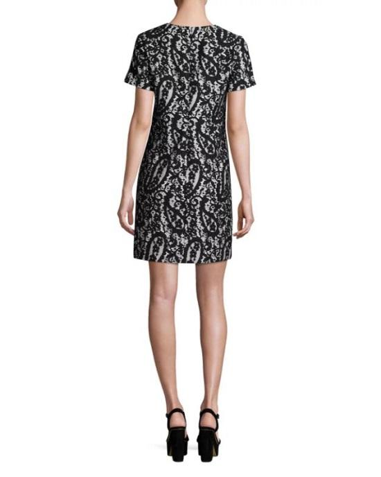 Michael Michael Koes Mod Short-Sleeve Lace-Overlay T-Shirt Dress