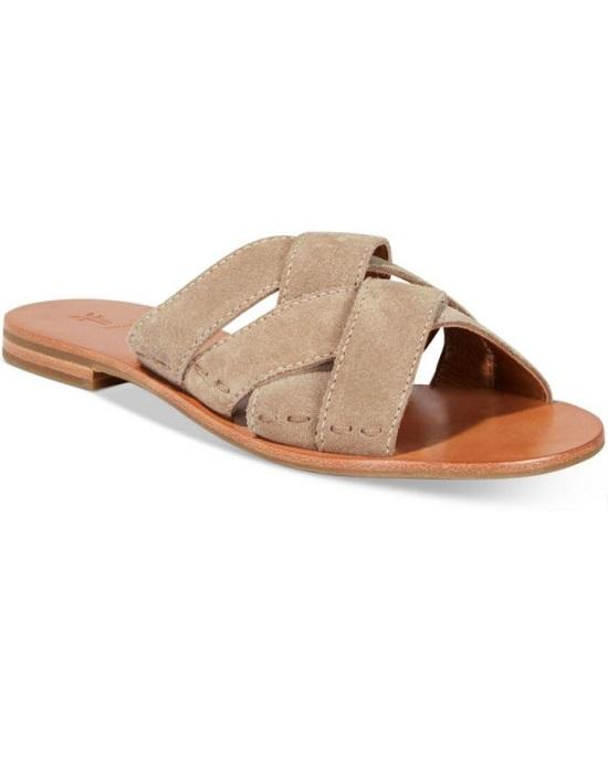 Frye Carla Criss Cross Open Toe Casual Slide Sandals