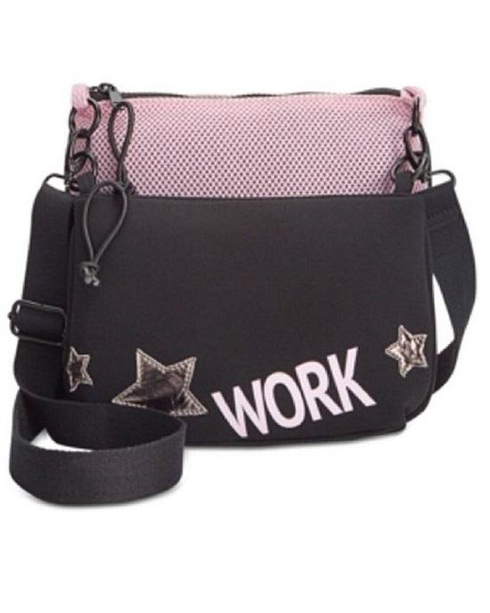 Ideology Pink Black 2-In-1 Graphic Crossbody Bacg