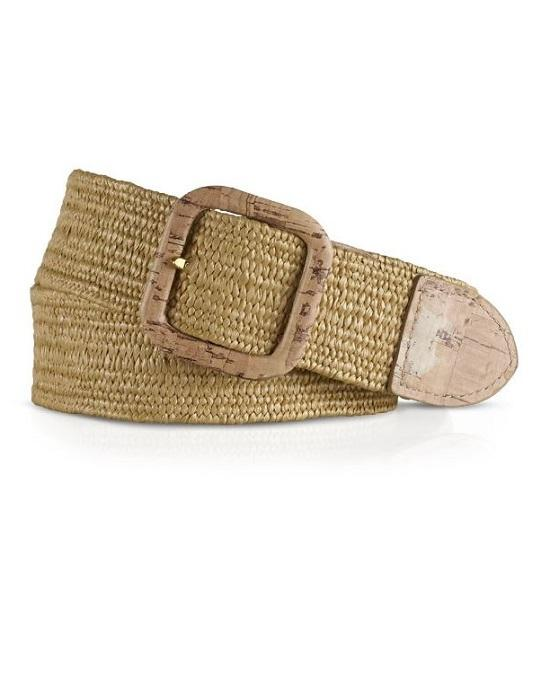 Lauren Ralph Lauren Belt - Stretch Straw Safari