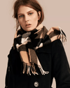 Burberry Large Classic Cashmere Scarf in Check