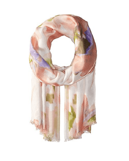 Calvin Klein Womens Placed Floral Pashminia