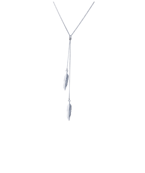 Steffe Sterling Silver Chain Leaves Necklaces