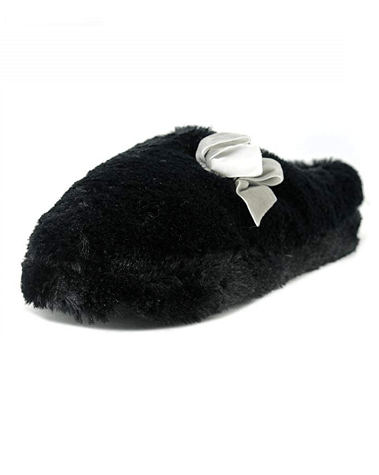 Inc International Concepts Women's Plush Bow Clog Slipper
