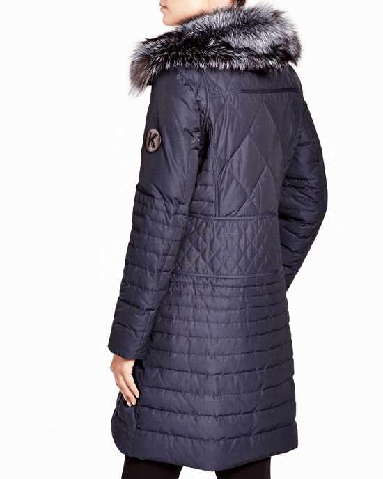 Maximilian Women's Maximilian Down Coat With Fox Collar