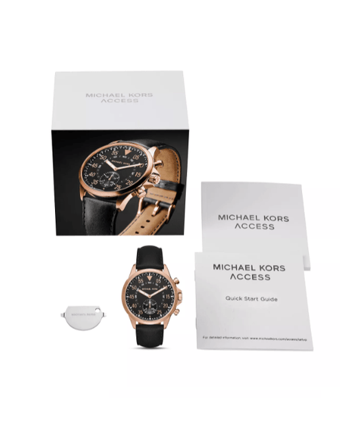 Michael Kors Access Gage Rose Gold-Tone Hybrid Smartwatch, 45mm