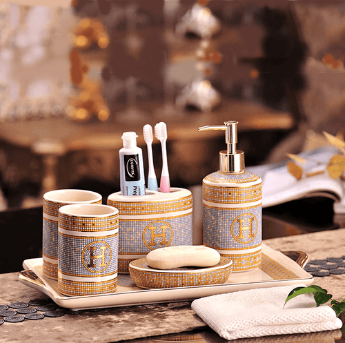 Luxury 6 Piece Bathroom Accessory Set