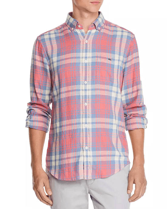 Kings Point Plaid Slim Fit Button-Down Shirt