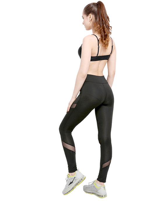 Women's High Waist Printed Mesh Ankle Legging