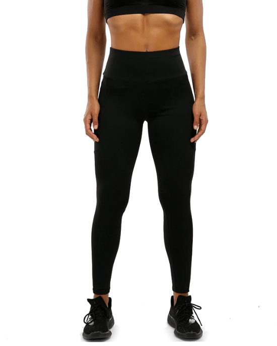 Women's Yoga Capri Pants Sport Tights Workout Running Leggings with Side Pocket