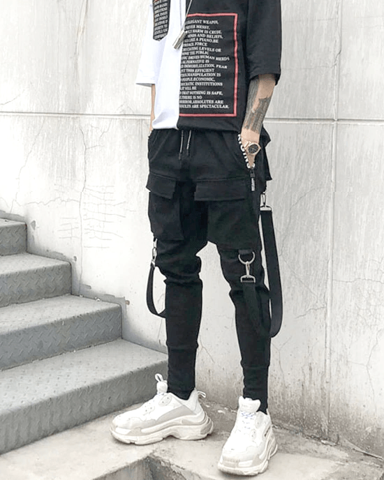 Men's Suspender Pocket Cargo Pant