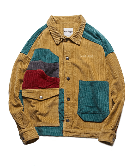 Men's Corduroy Pockets Jacket, Multicolor