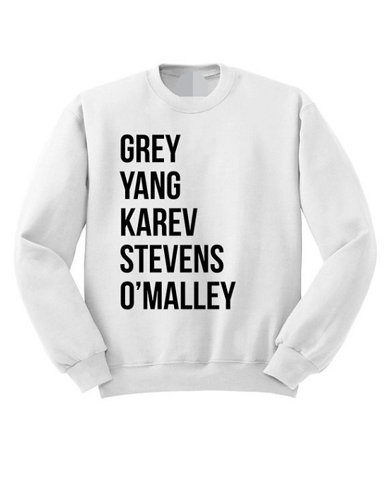 "Grey Yang Karev Stevens O'Malley"" Women's Sweatshirt"